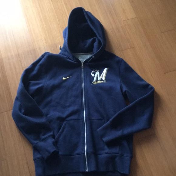 hot sales 6e1fe a8114 Milwaukee Brewers Nike Zip Up Jacket